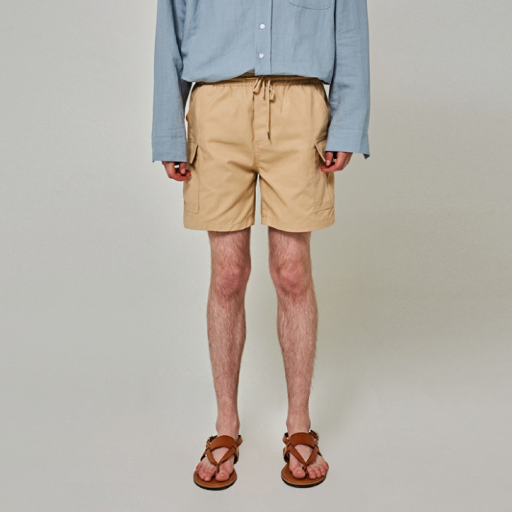 [얀써틴] COTTON POCKET SHORTS_BEIGE