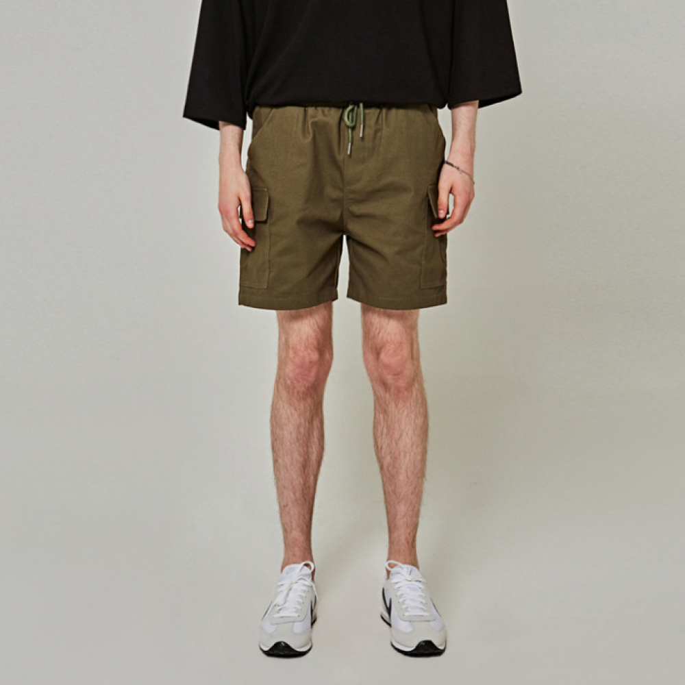 [얀써틴] COTTON POCKET SHORTS_KHAKI