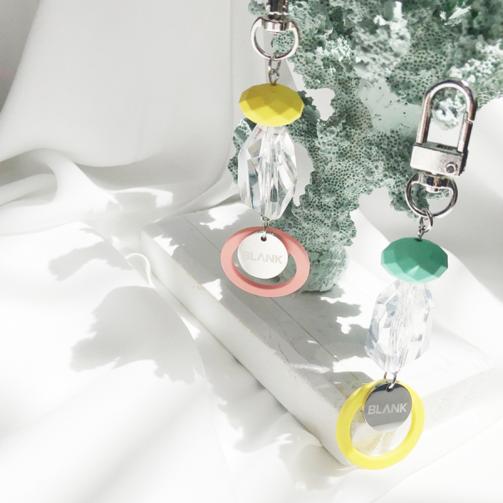[블랭크]  CRYSTAL KEY RING (2 COLOR)