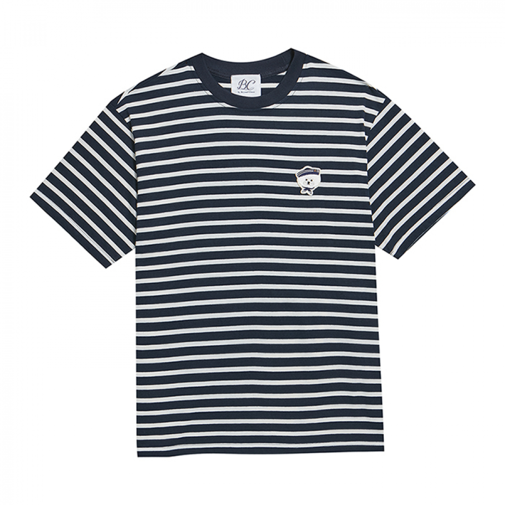 ILP MARINE DOG STRIPE 1/2 T-SHIRTS NAVY