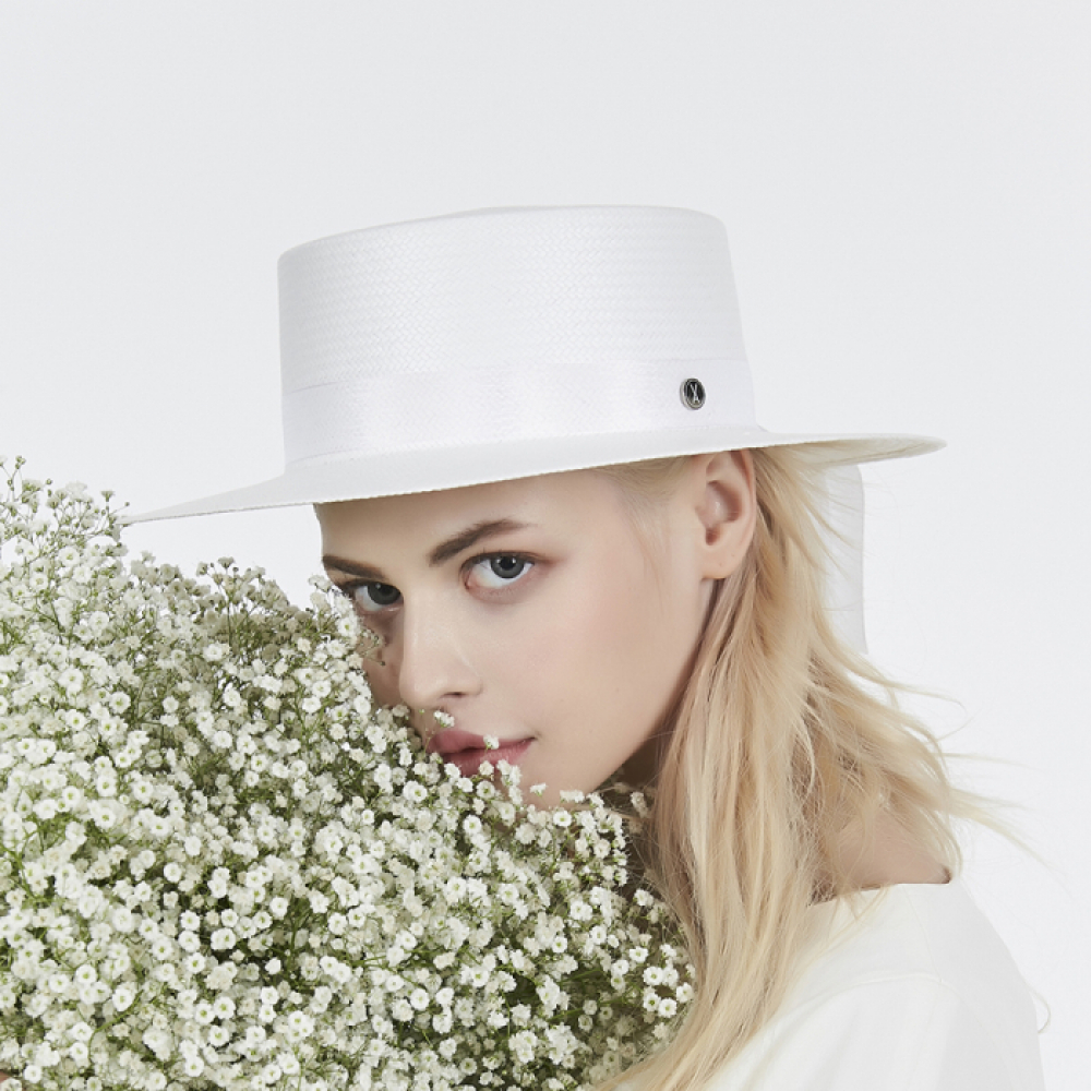[바잘] Pure paper hat white