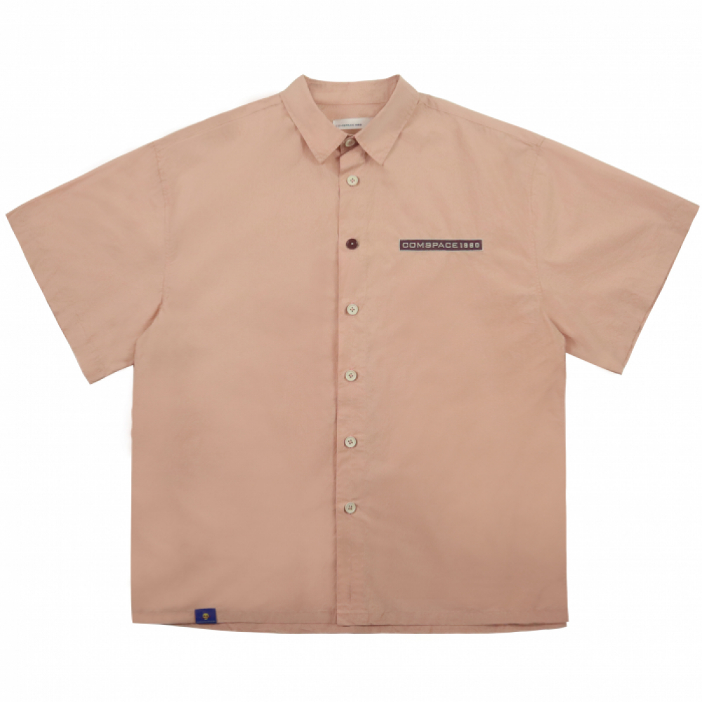 Name Tag Over-Fit Shirt PINK