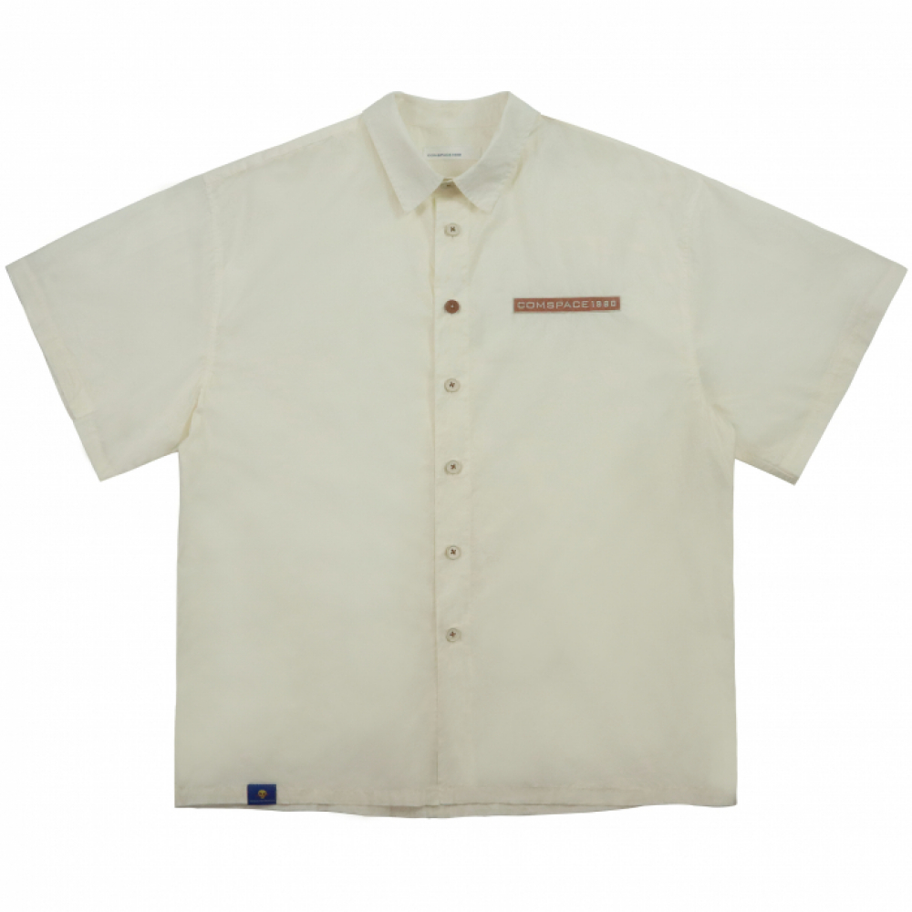 Name Tag Over-Fit Shirt  IVORY