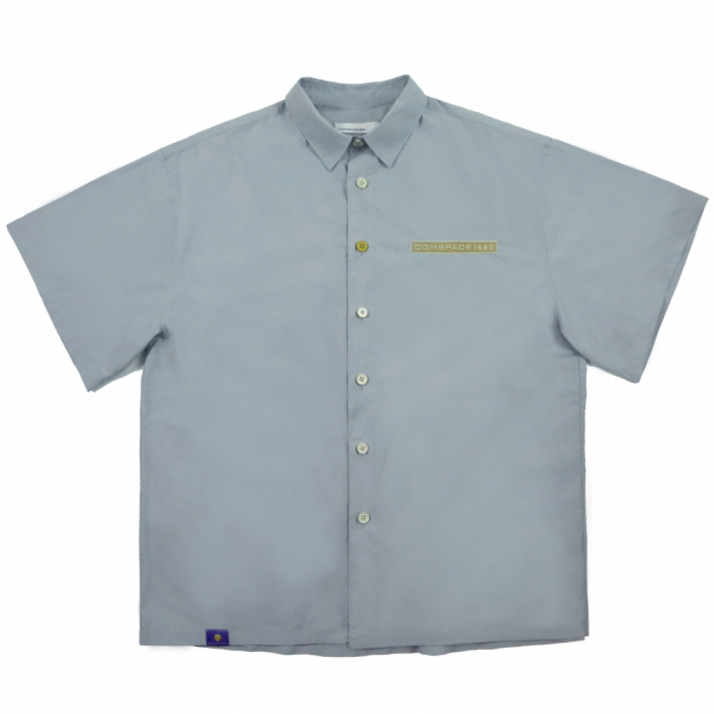 Name Tag Over-Fit Shirt  BLUE
