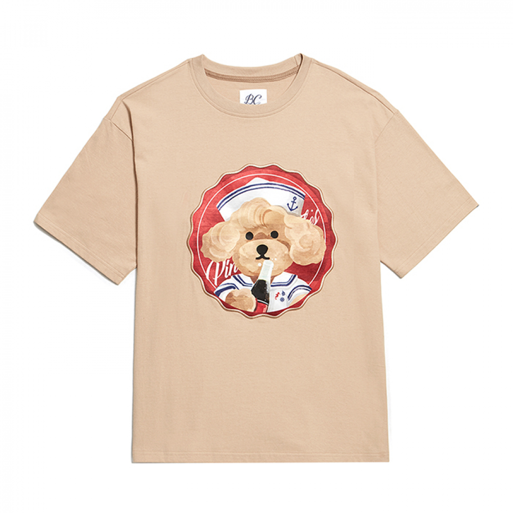 [6/21출고]PINUP COKE DOG PATCH 1/2 T-SHIRTS BEIGE