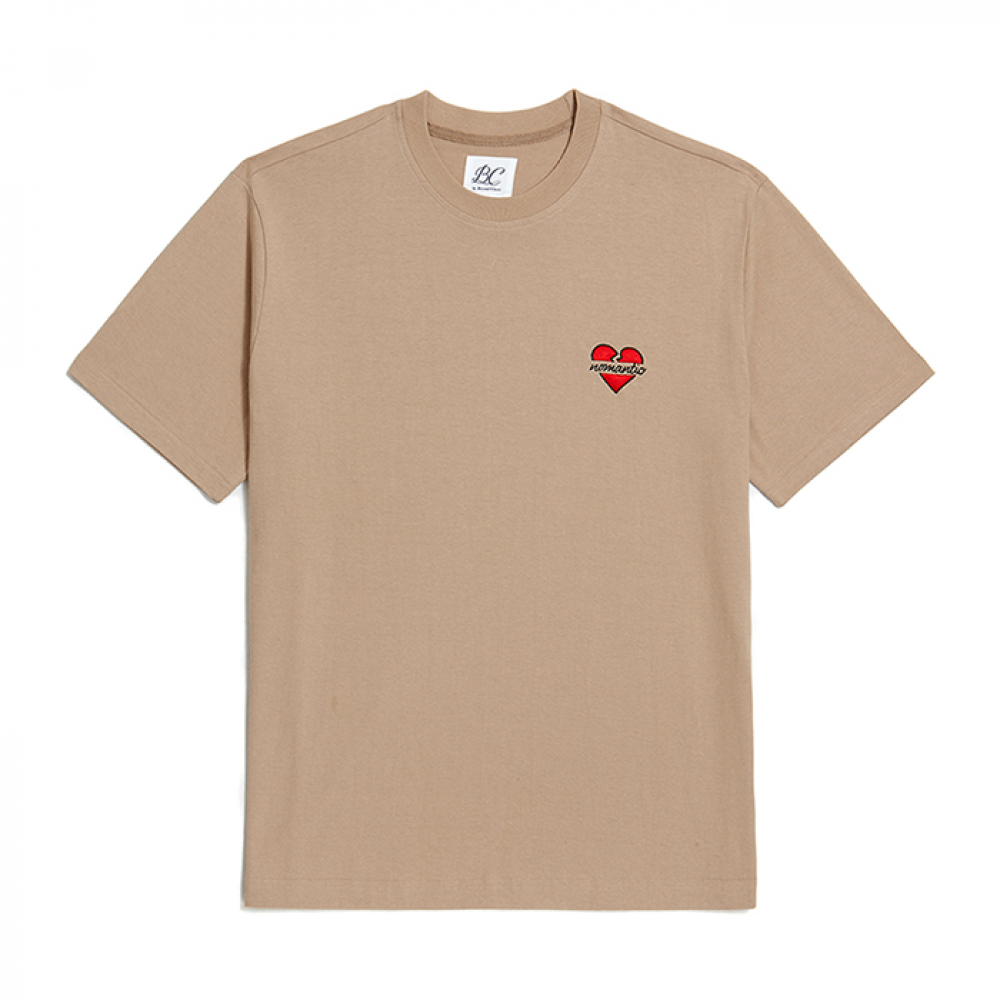 [비욘드클로젯] NOMANTIC SIGNATURE LOGO 1/2 T-SHIRTS BEIGE