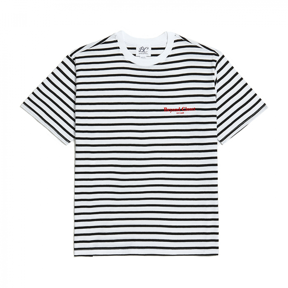 [비욘드클로젯] NEW EDITION LOGO STRIPE 1/2 T-SHIRTS WHITE