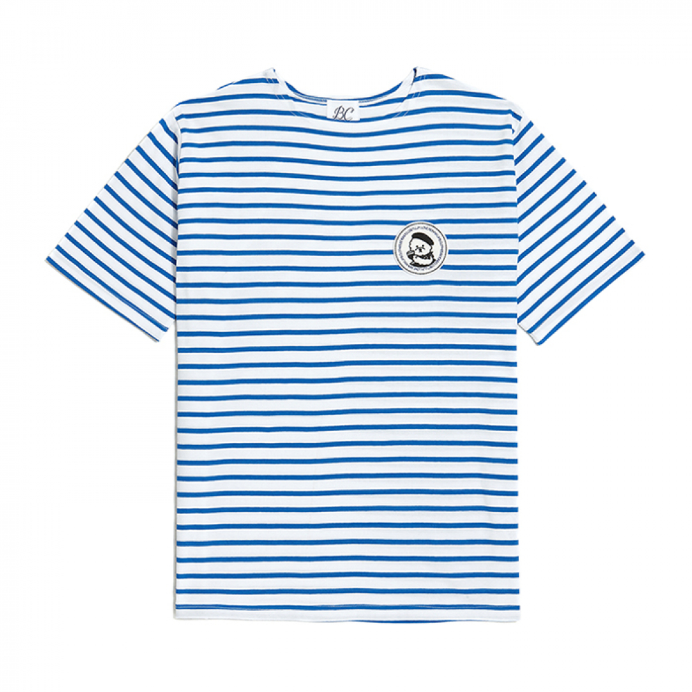 [비욘드클로젯] ILP PINUP DOG WAPPEN STRIPE 1/2 T-SHIRTS BLUE