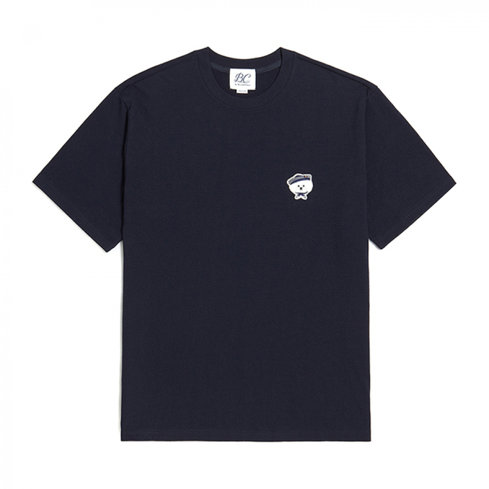 [비욘드클로젯] ILP MARINE DOG SIGNATURE 1/2 T-SHIRTS NAVY