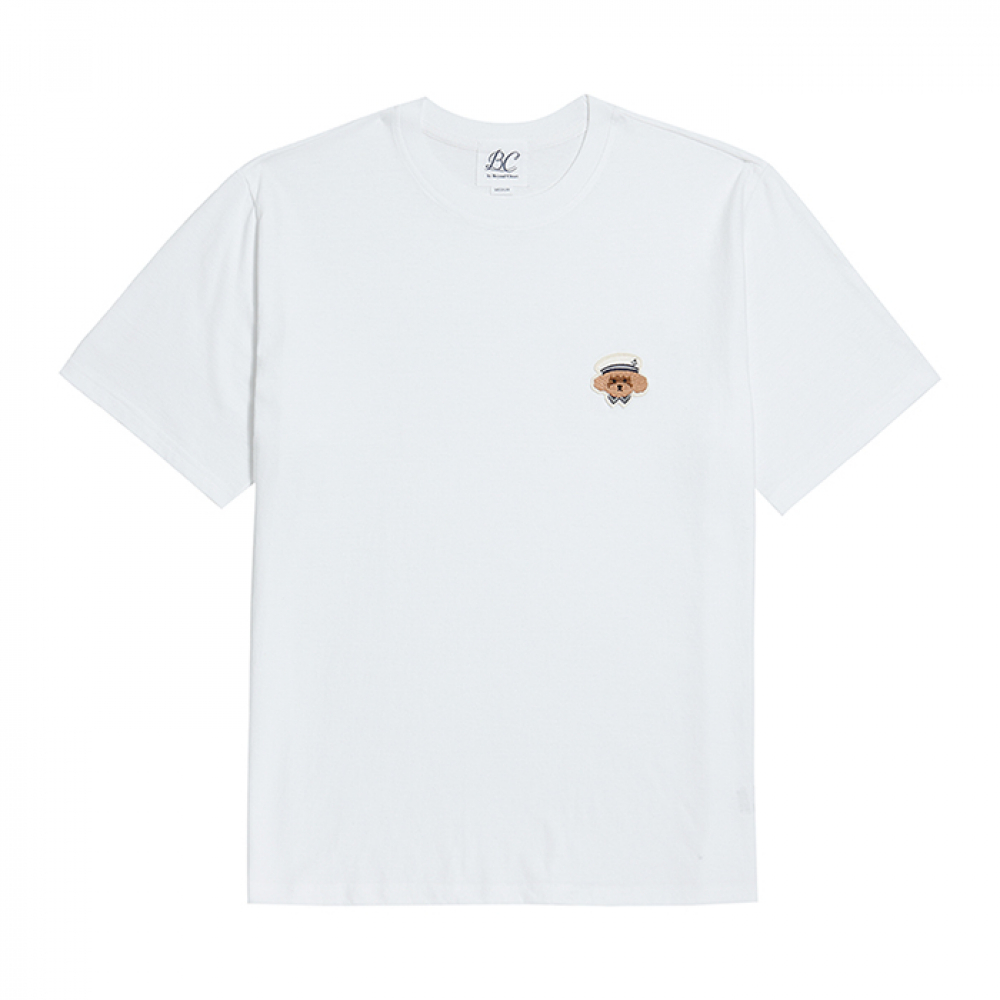 [비욘드클로젯] ILP MARINE DOG SIGNATURE 1/2 T-SHIRTS WHITE