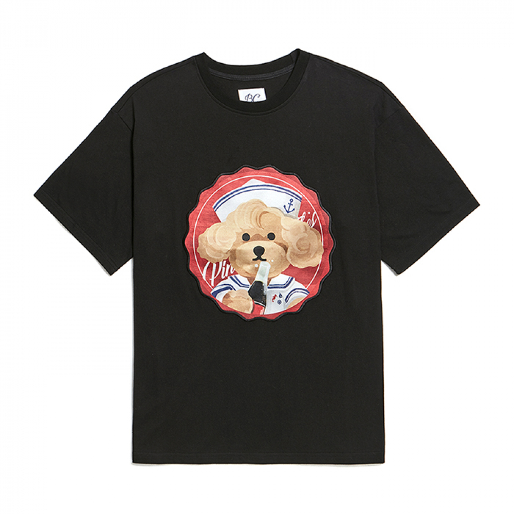 [6/20출고]PINUP COKE DOG PATCH 1/2 T-SHIRTS BLACK