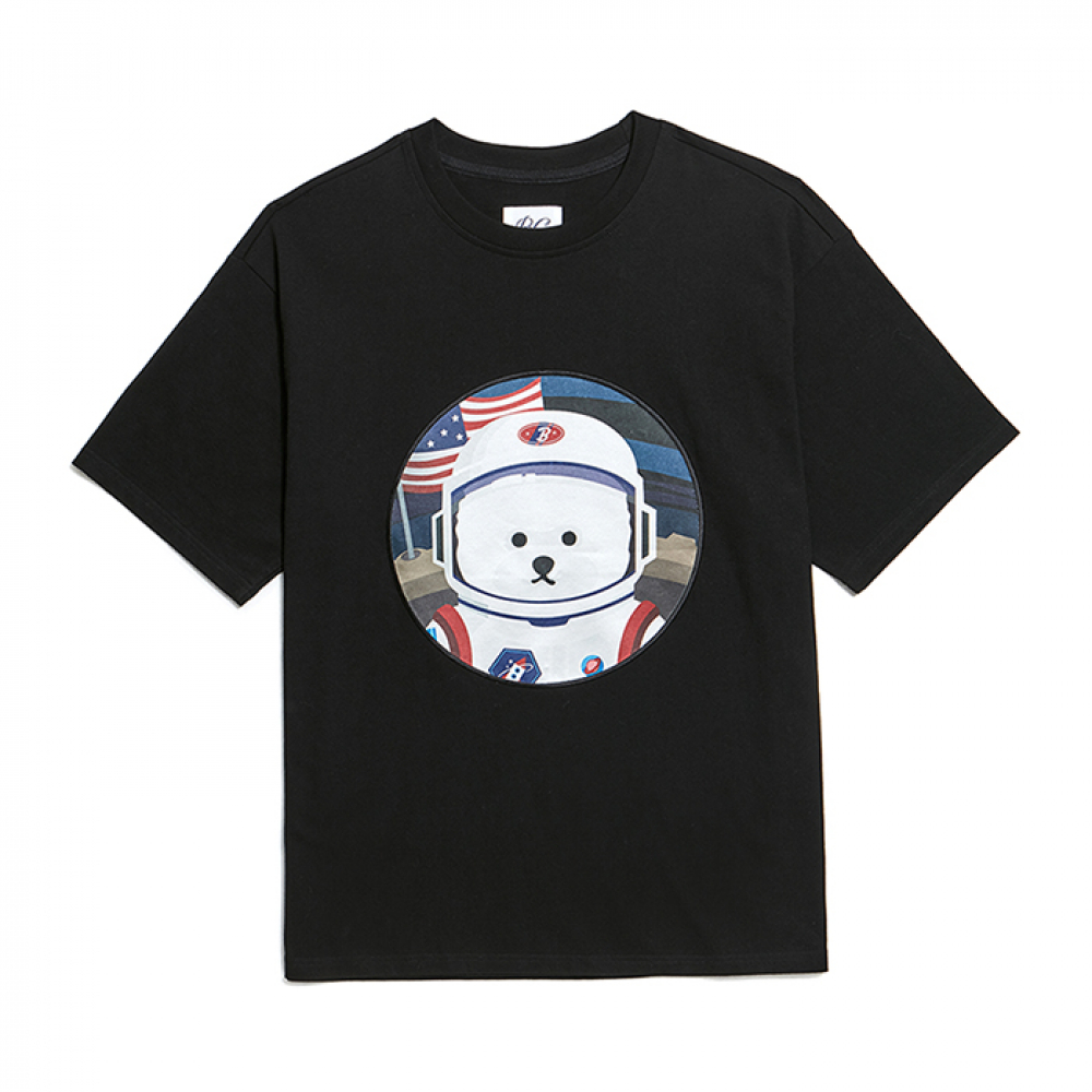 [6/27출고][RE-EDITION]APOLLO DOG PATCH 1/2 T-SHIRTS BLACK