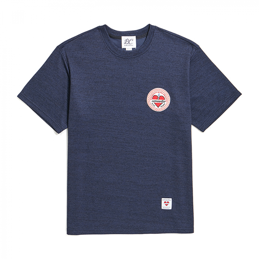 [비욘드클로젯] ROPE NOMANTIC WAPPEN LOGO 1/2 SUMMER KNIT NAVY