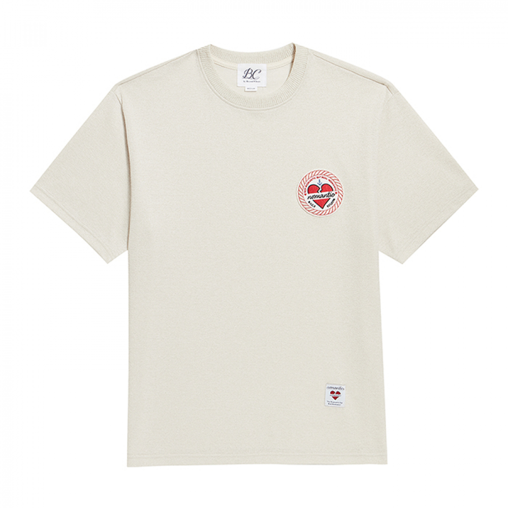 [비욘드클로젯] ROPE NOMANTIC WAPPEN LOGO 1/2 SUMMER KNIT IVORY