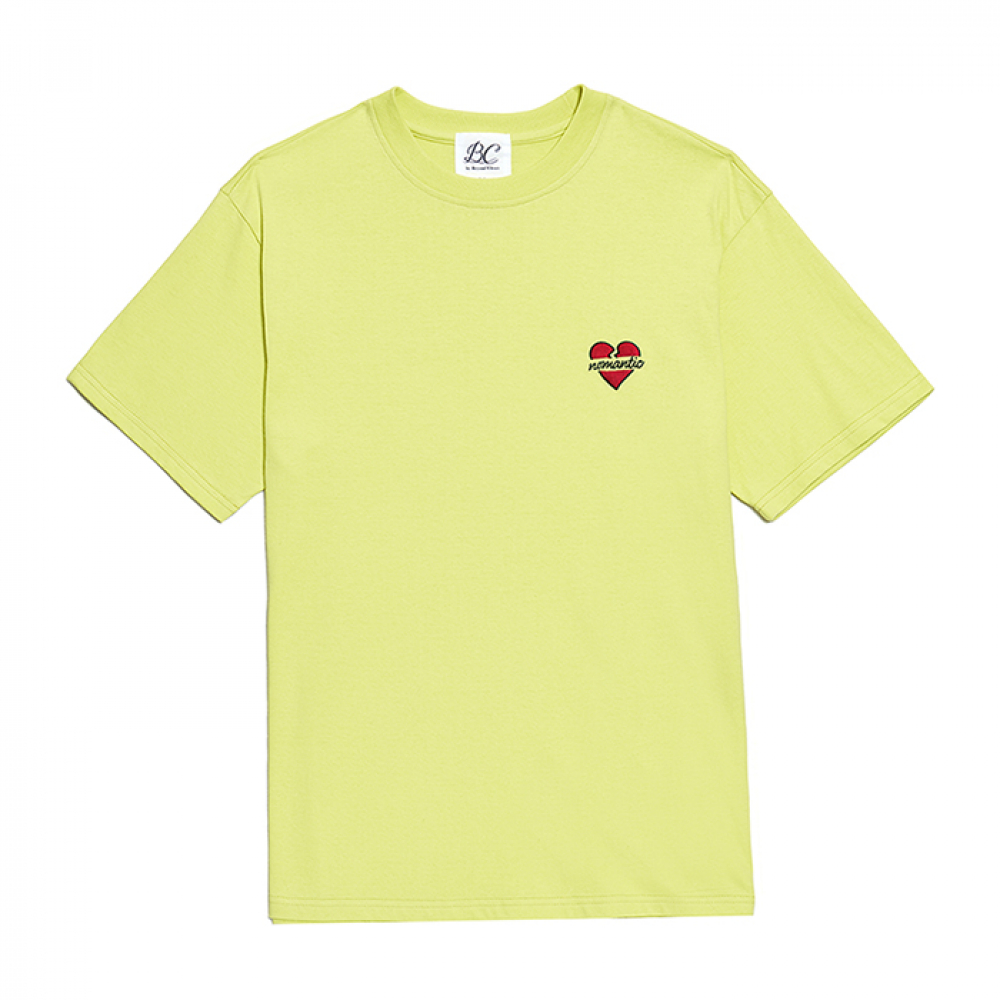 NOMANTIC SIGNATURE LOGO 1/2 T-SHIRTS LIME