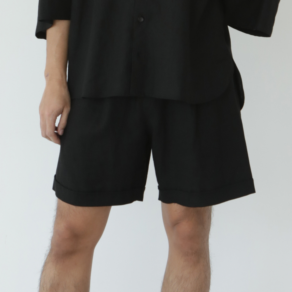 [말렌(malen)] unisex half pants black [3color]