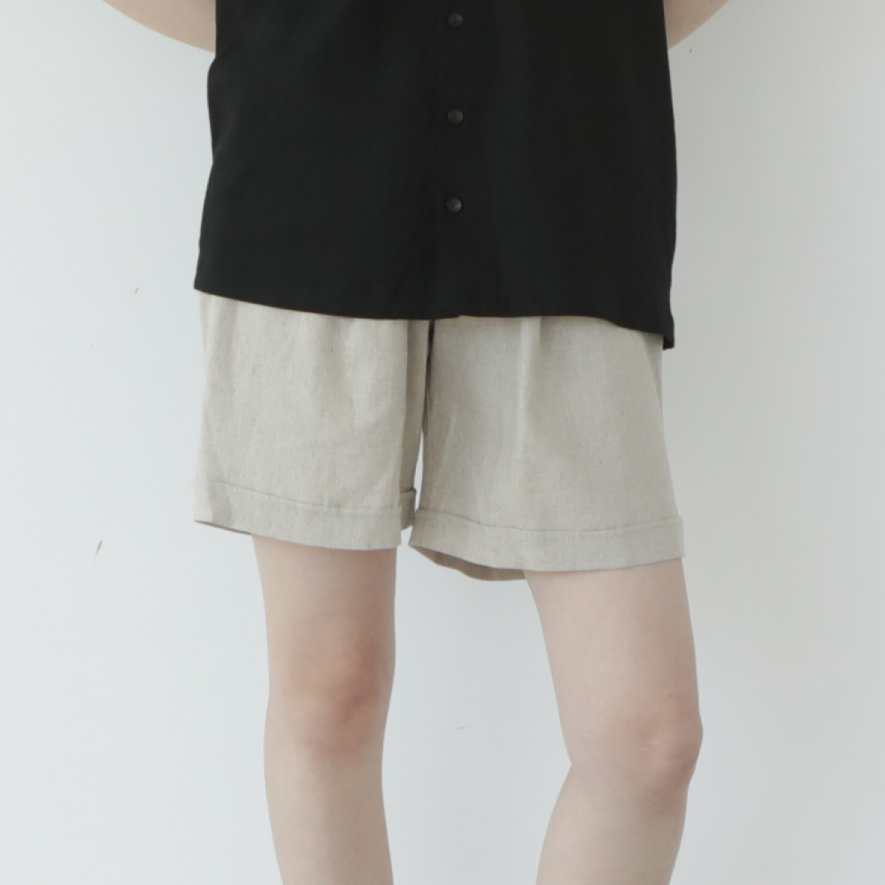 [말렌(malen)] unisex half pants beige [3color]