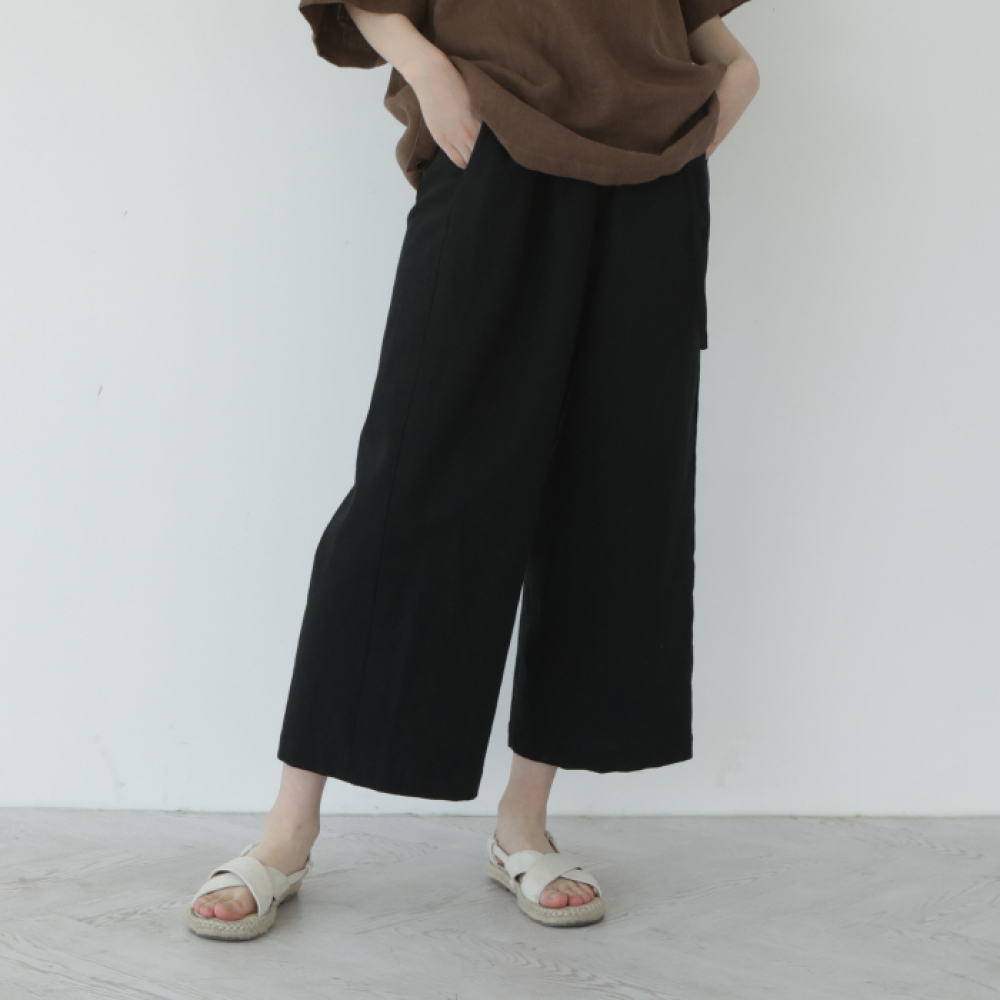 [말렌(malen)] unisex straight pants black [4color]