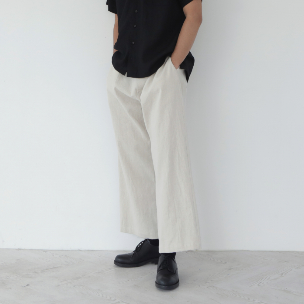 [말렌(malen)] unisex straight pants beige [4color]