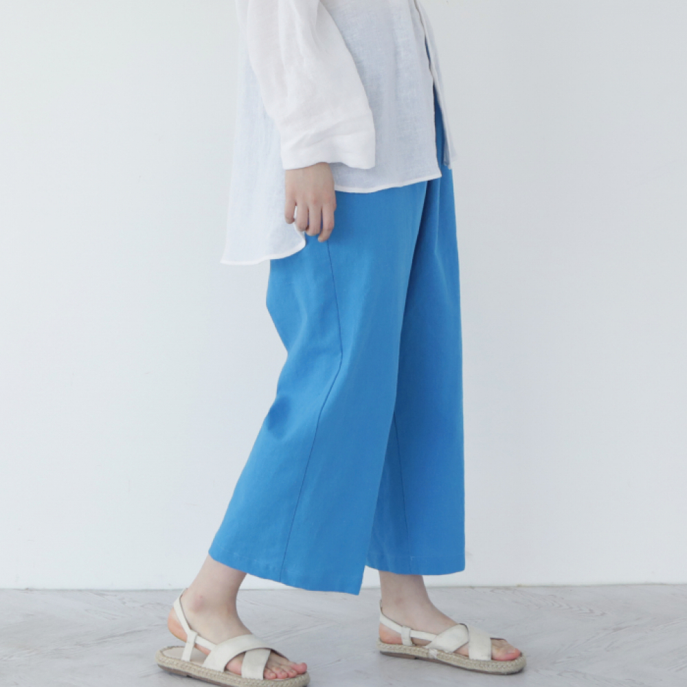 [말렌(malen)] unisex straight pants blue [4color]