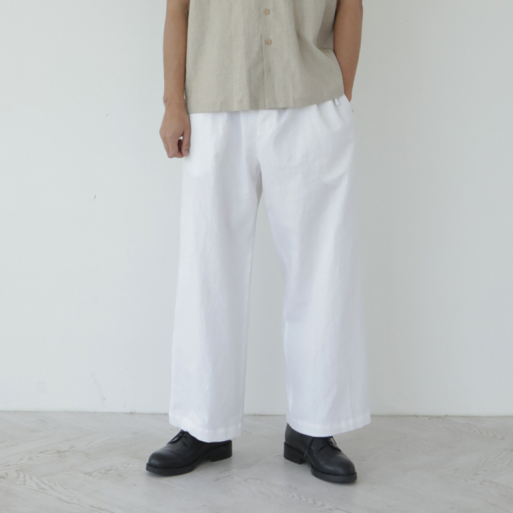 [말렌(malen)] unisex straight pants white [4color]