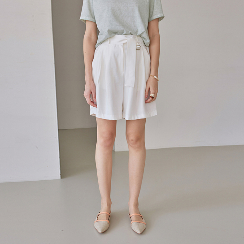 [DEANS] SILKY BT POINT SHORTS_IVORY