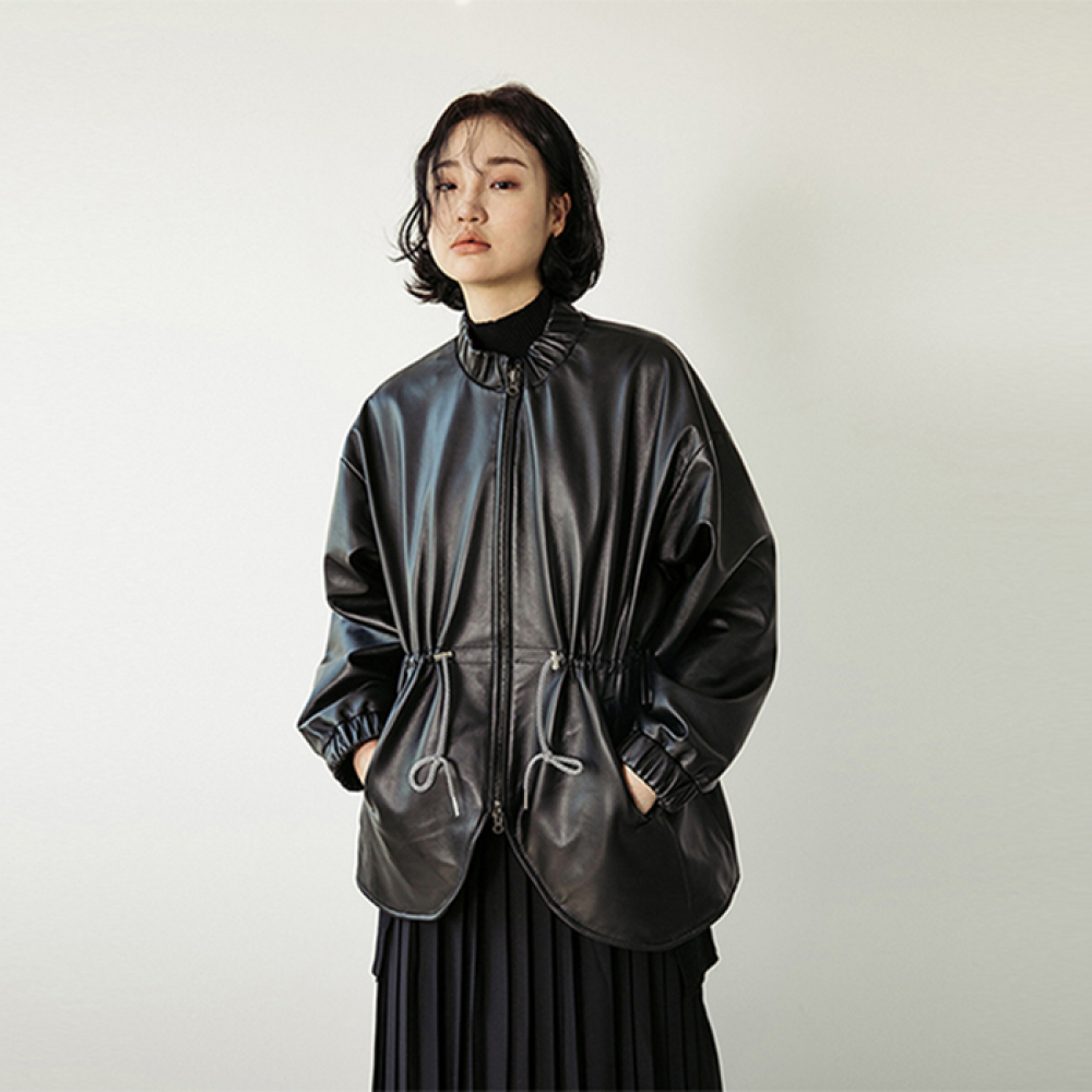 [스페로네] LAMB SKIN MA-1 JACKET [BLACK]